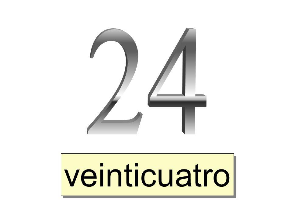 24 veinticuatro
