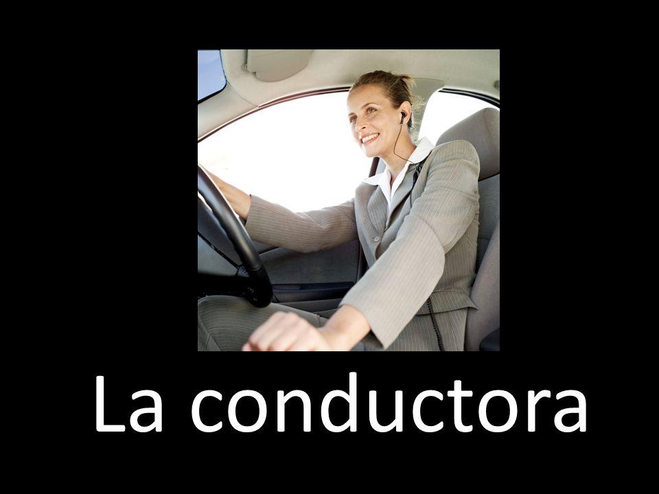 La conductora