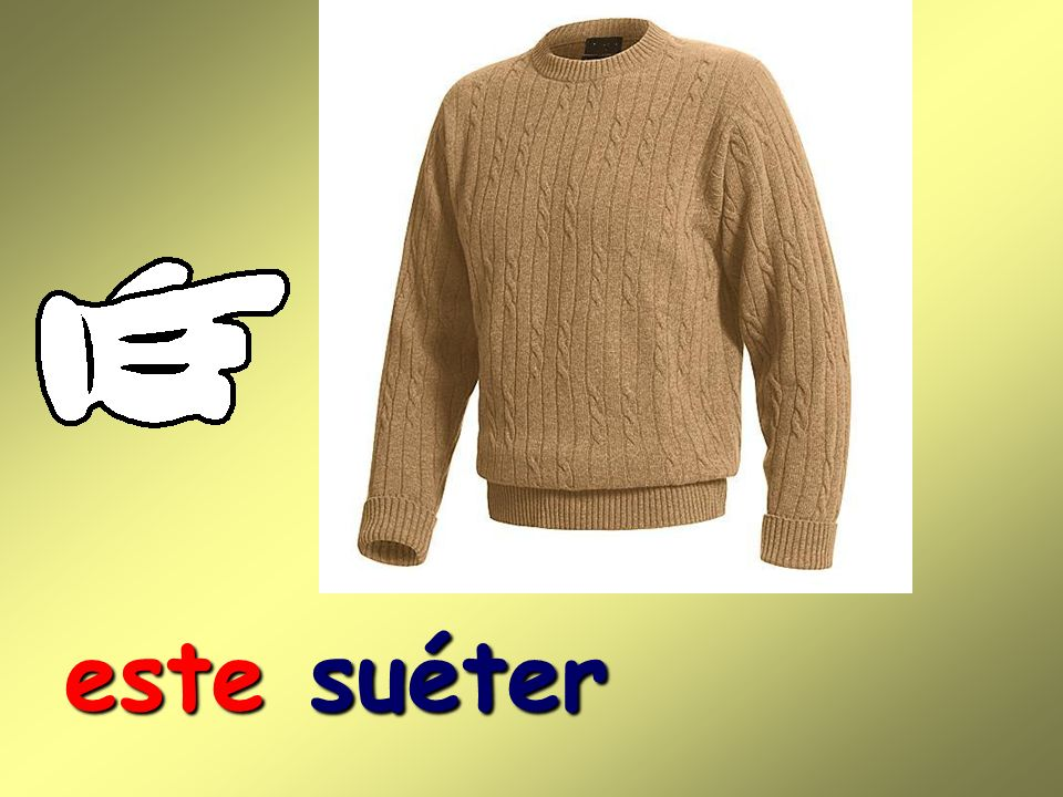 este suéter