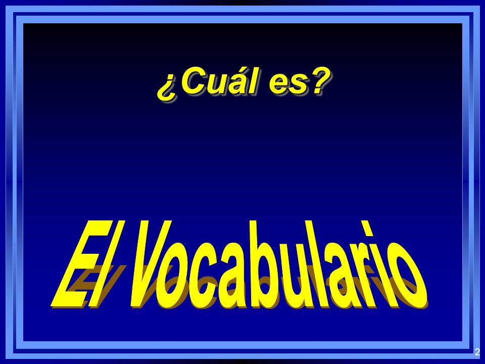 ¿Cuál es El Vocabulario