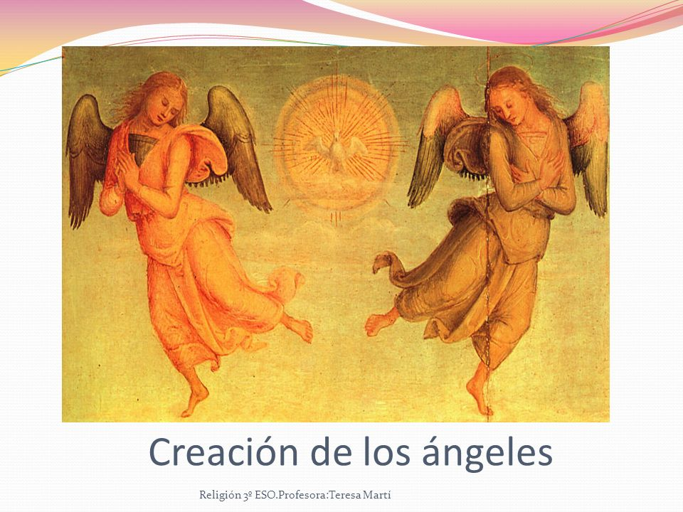 Creación de los ángeles
