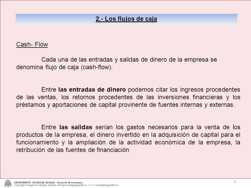 2.- Los flujos de caja Cash- Flow