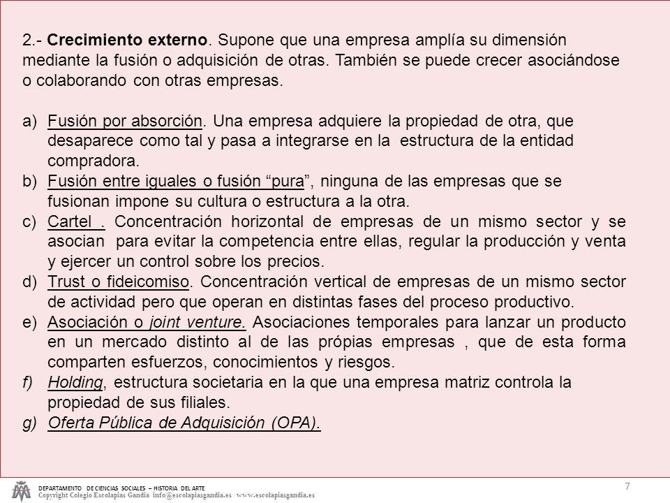 Oferta Pública de Adquisición (OPA).