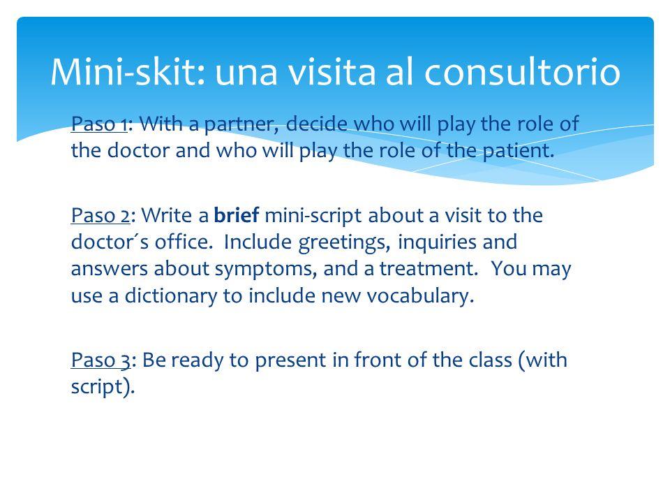 Mini-skit: una visita al consultorio