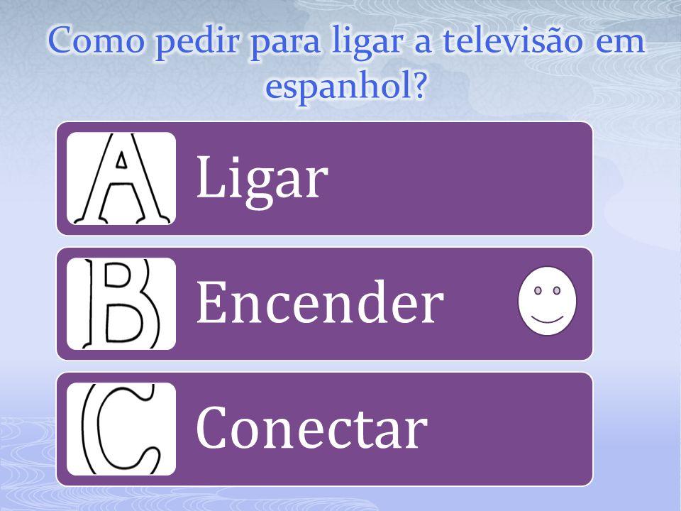 Como pedir para ligar a televisão em espanhol