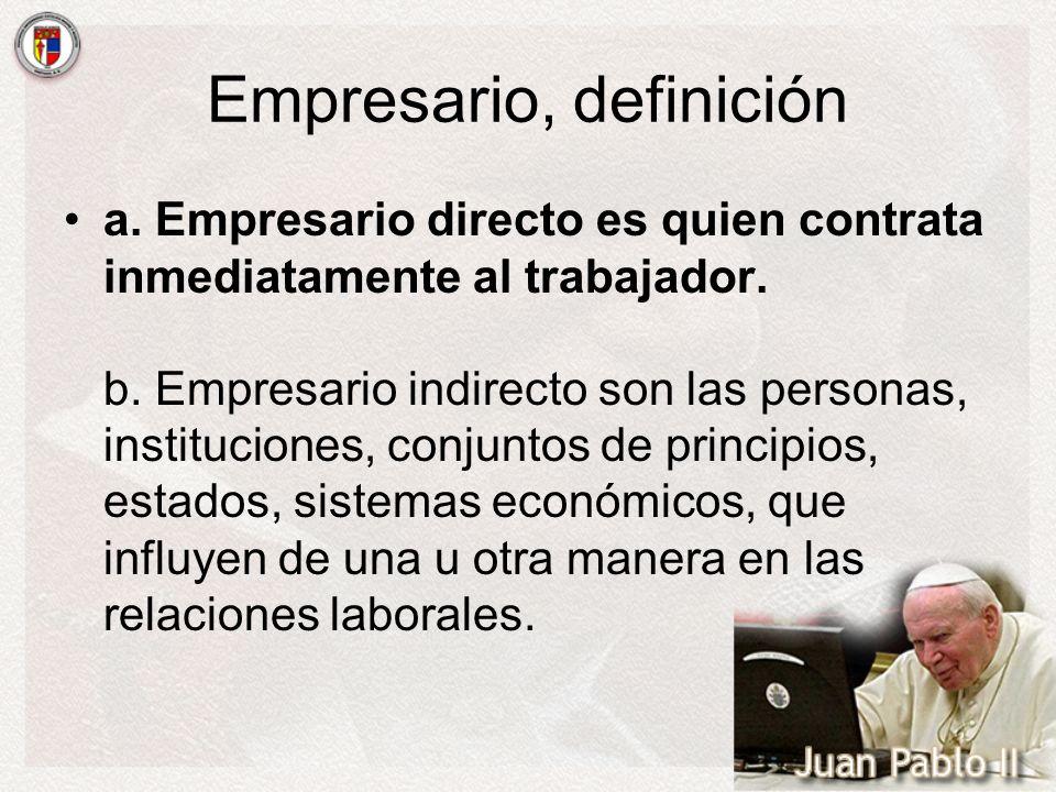 Empresario, definición
