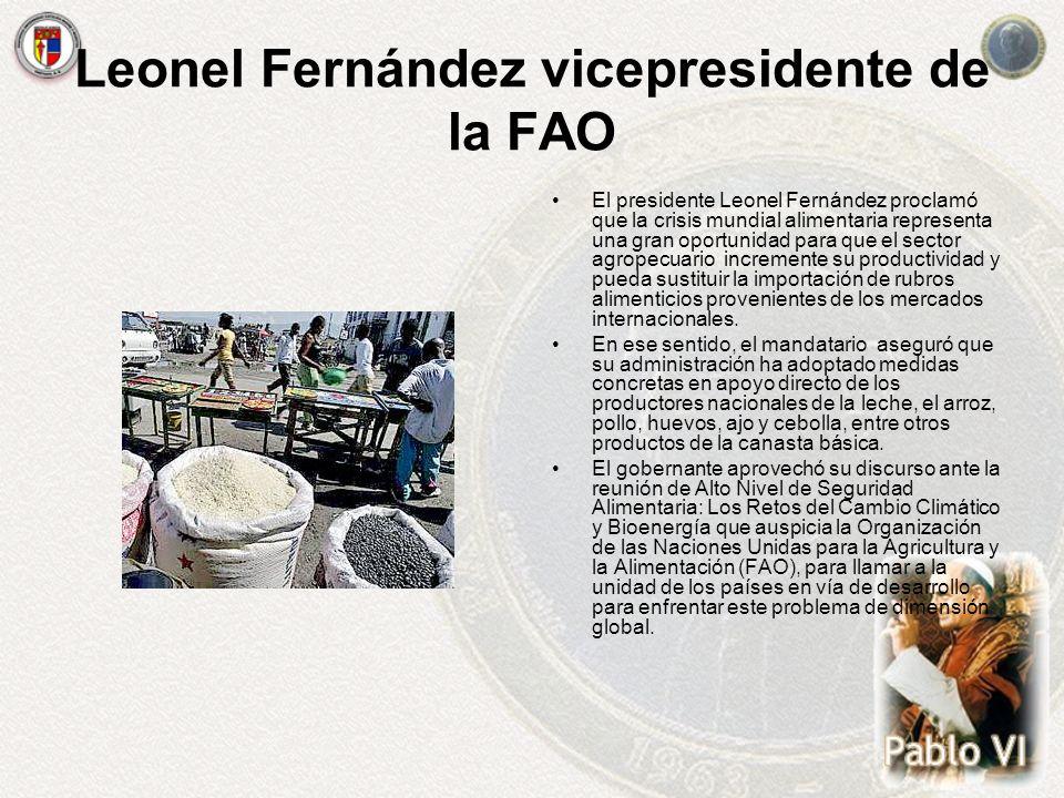 Leonel Fernández vicepresidente de la FAO