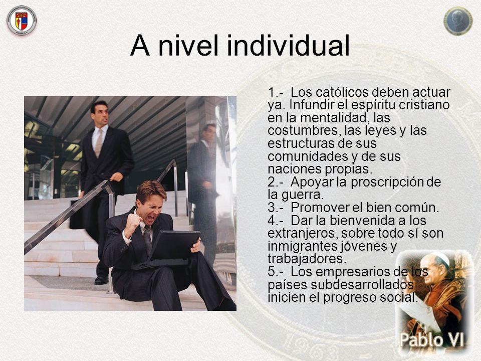 A nivel individual