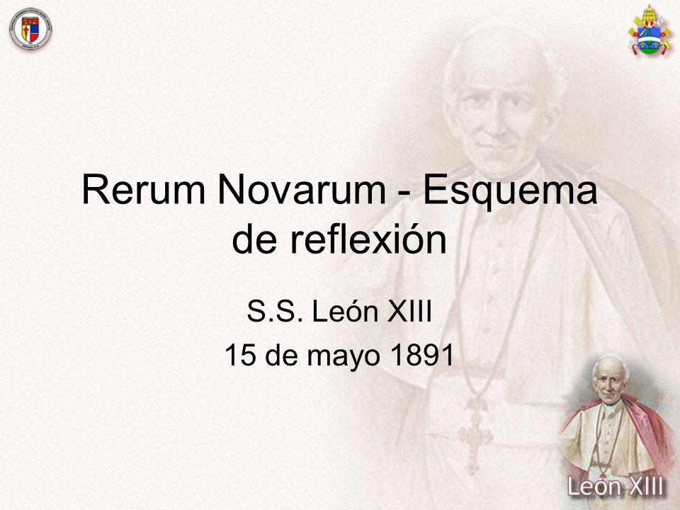 Rerum Novarum - Esquema de reflexión