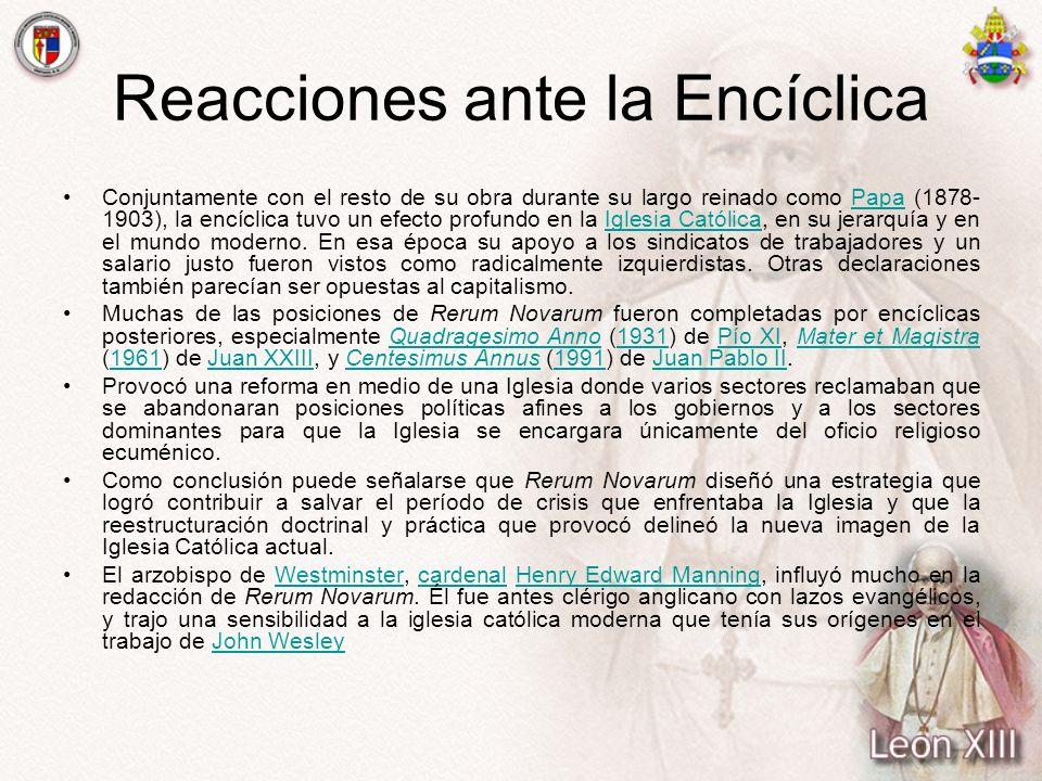 Reacciones ante la Encíclica