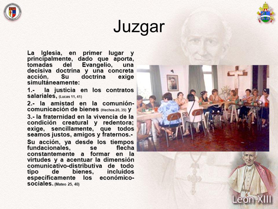 Juzgar 1.- la justicia en los contratos salariales, (Lucas 11, 41)