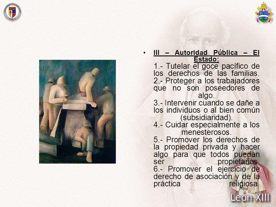 III – Autoridad Pública – El Estado: 1