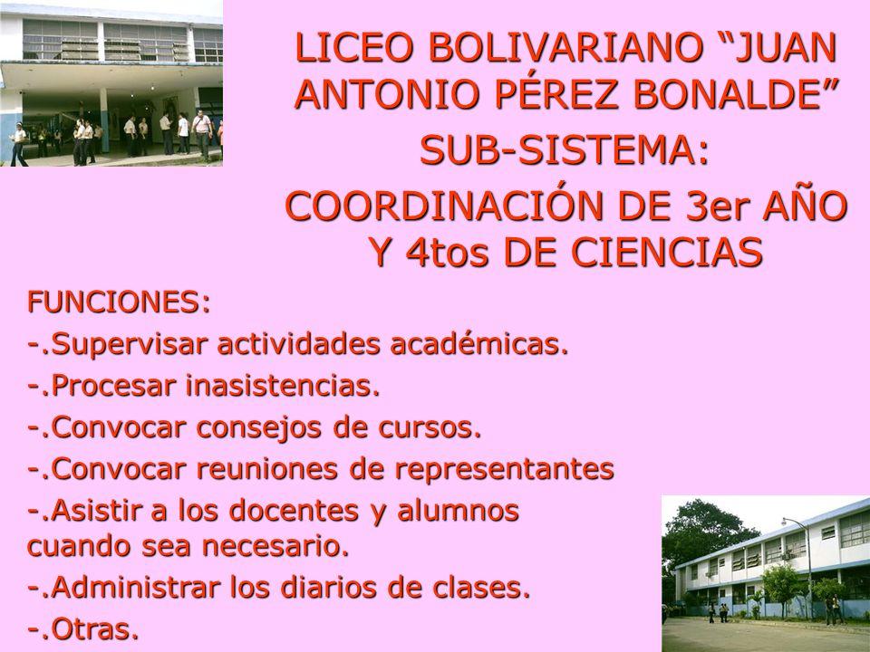 LICEO BOLIVARIANO JUAN ANTONIO PÉREZ BONALDE