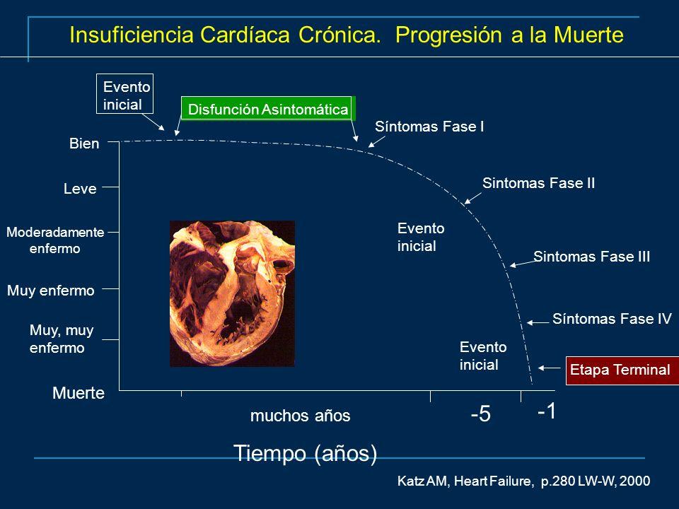Insuficiencia Cardíaca Crónica. Progresión a la Muerte