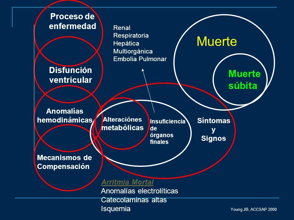 Muerte Muerte súbita Proceso de enfermedad Disfunción ventricular