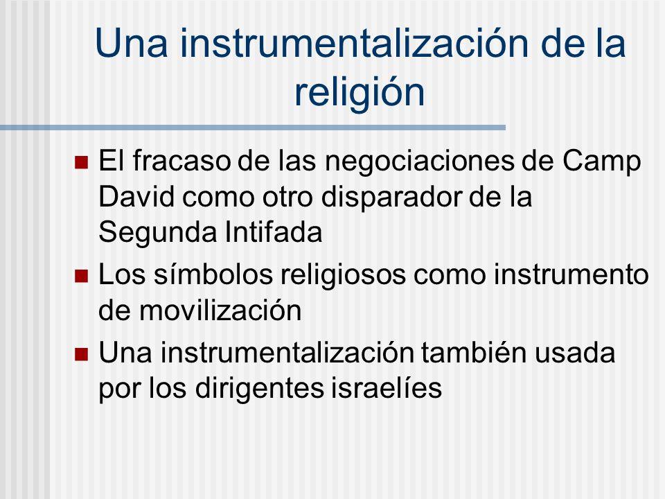 Una instrumentalización de la religión