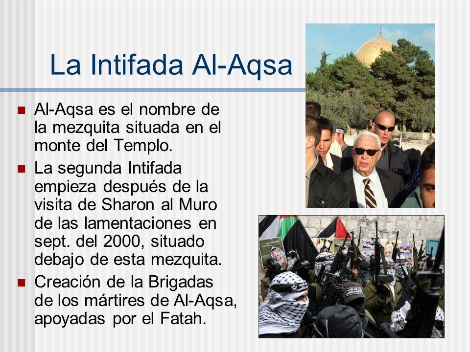 La Intifada Al-Aqsa Al-Aqsa es el nombre de la mezquita situada en el monte del Templo.