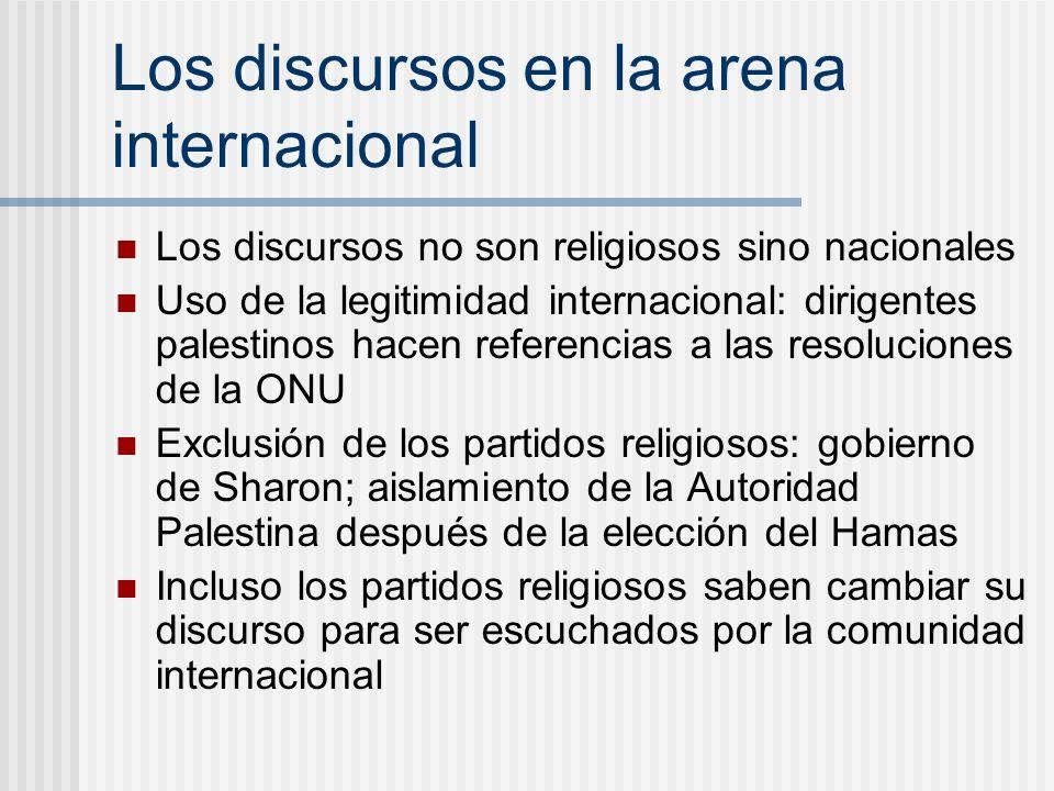 Los discursos en la arena internacional