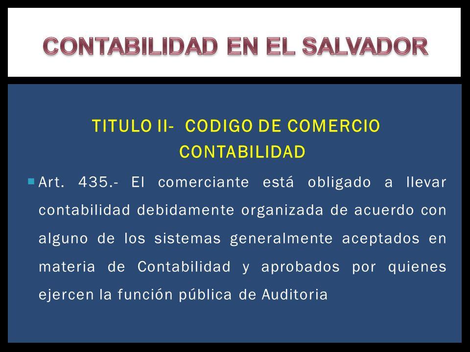 CONTABILIDAD EN EL SALVADOR