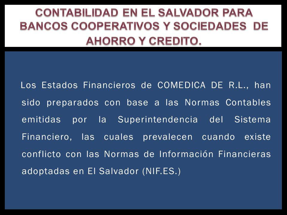 CONTABILIDAD EN EL SALVADOR PARA BANCOS COOPERATIVOS Y SOCIEDADES DE AHORRO Y CREDITO.
