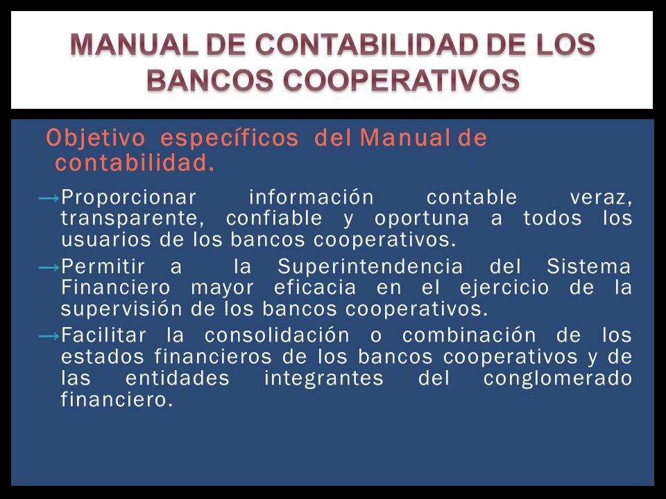 MANUAL DE CONTABILIDAD DE LOS BANCOS COOPERATIVOS