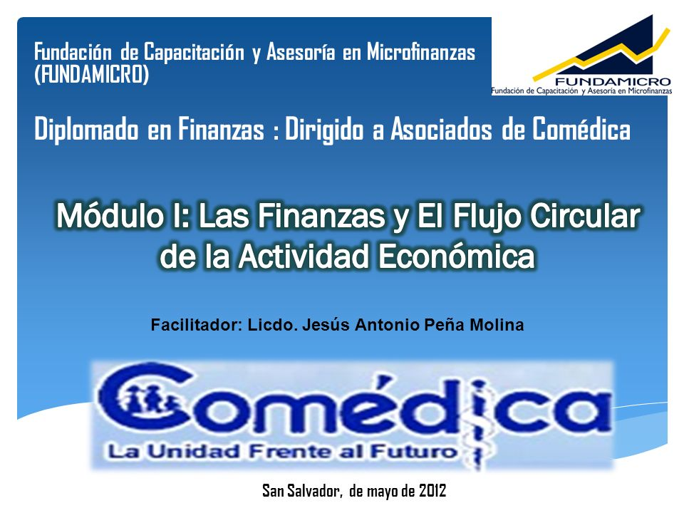 Facilitador: Licdo. Jesús Antonio Peña Molina
