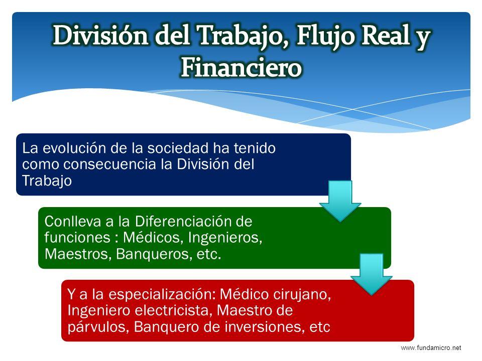 División del Trabajo, Flujo Real y Financiero