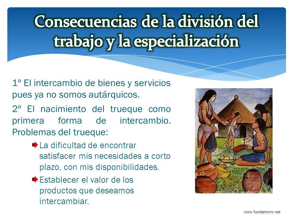 Consecuencias de la división del trabajo y la especialización