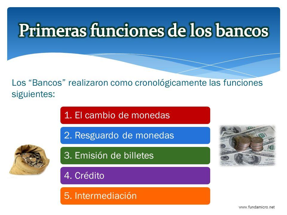 Primeras funciones de los bancos