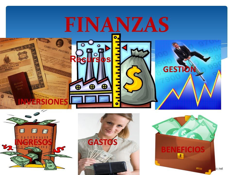 FINANZAS Recursos GESTION INVERSIONES INGRESOS GASTOS BENEFICIOS