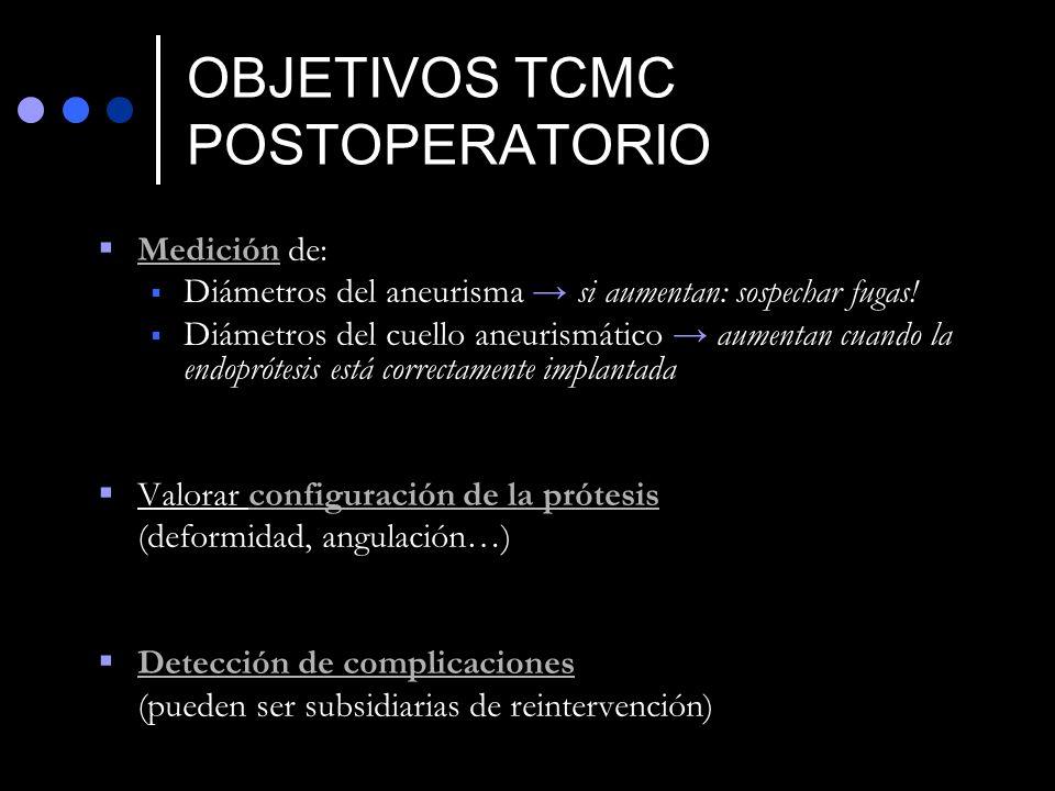 OBJETIVOS TCMC POSTOPERATORIO