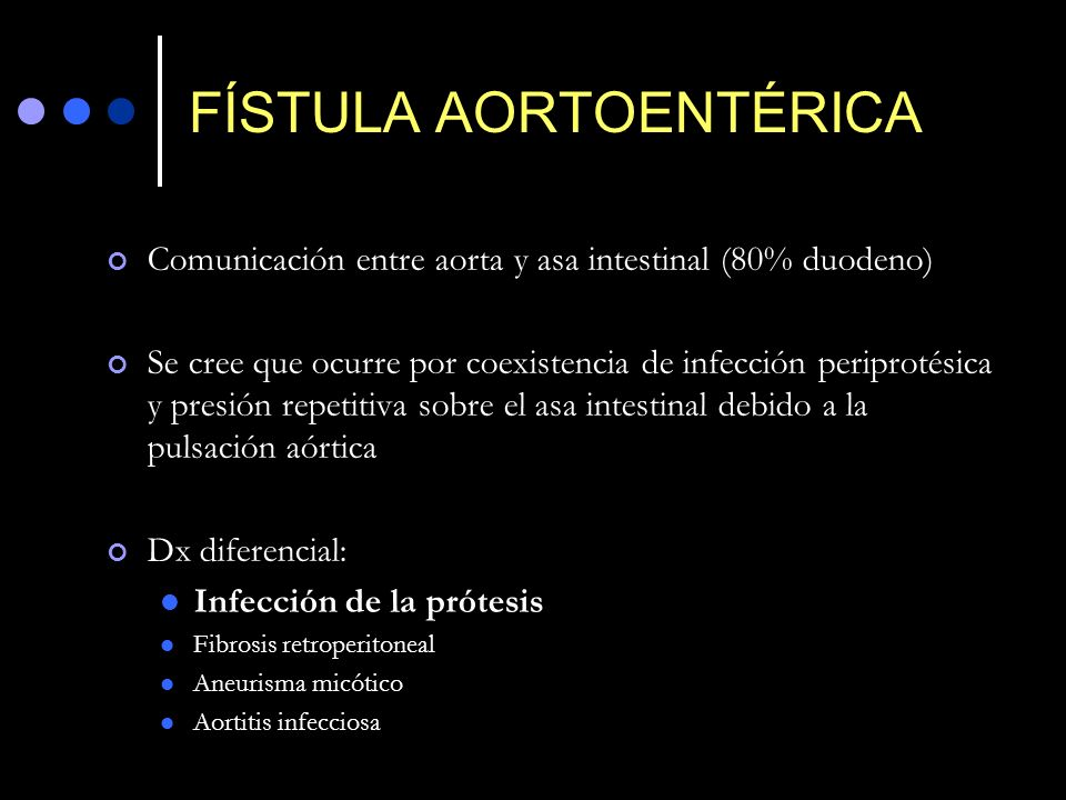 FÍSTULA AORTOENTÉRICA