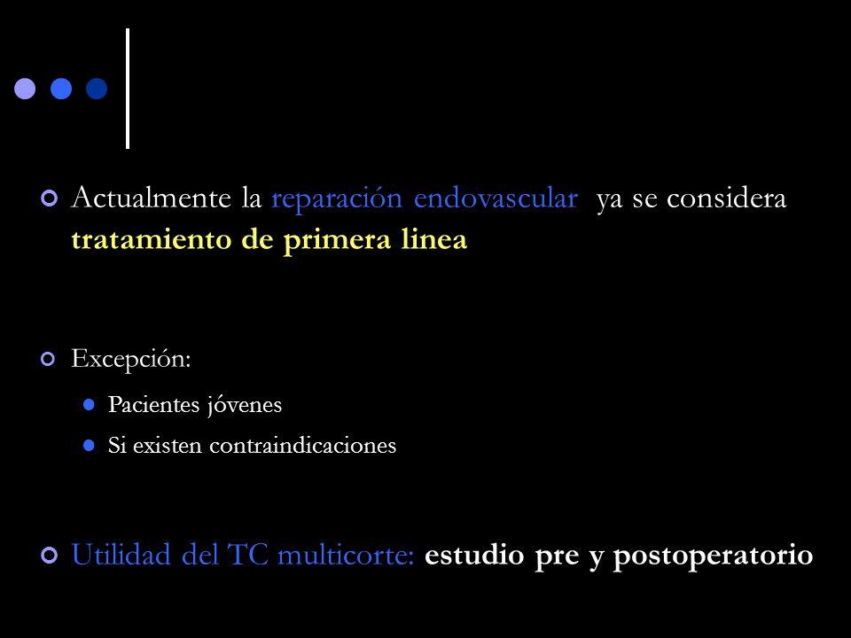 Utilidad del TC multicorte: estudio pre y postoperatorio