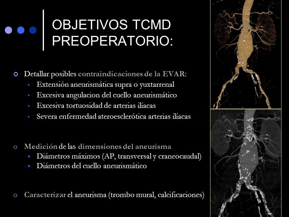 OBJETIVOS TCMD PREOPERATORIO: