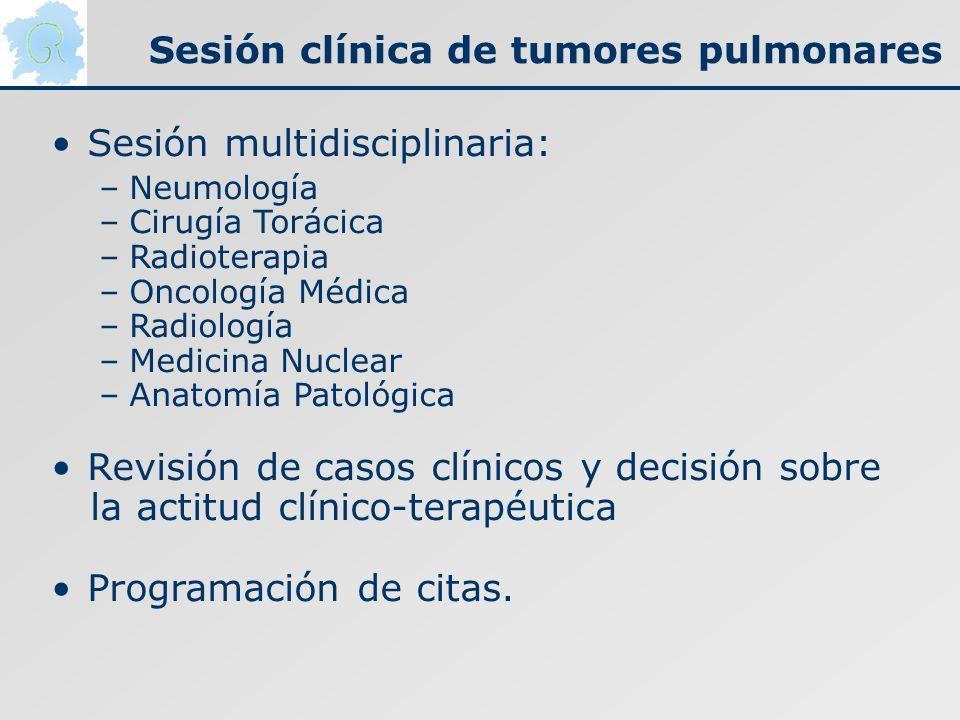 Sesión clínica de tumores pulmonares
