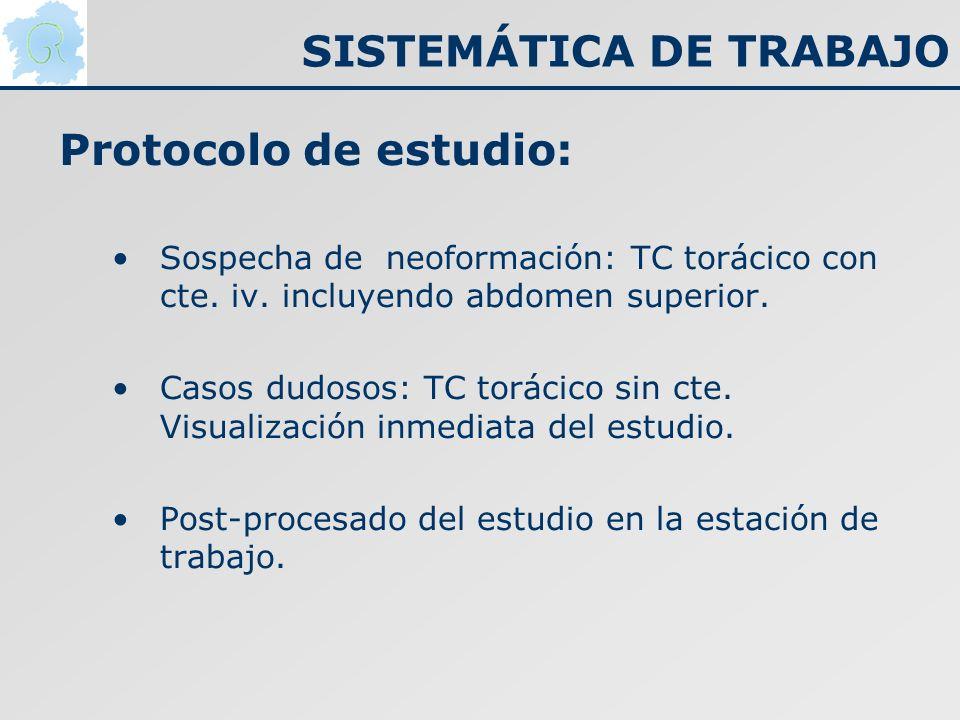 SISTEMÁTICA DE TRABAJO