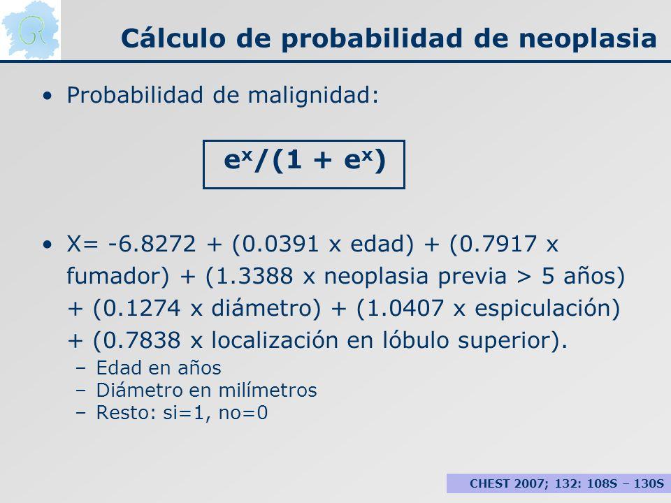 Cálculo de probabilidad de neoplasia