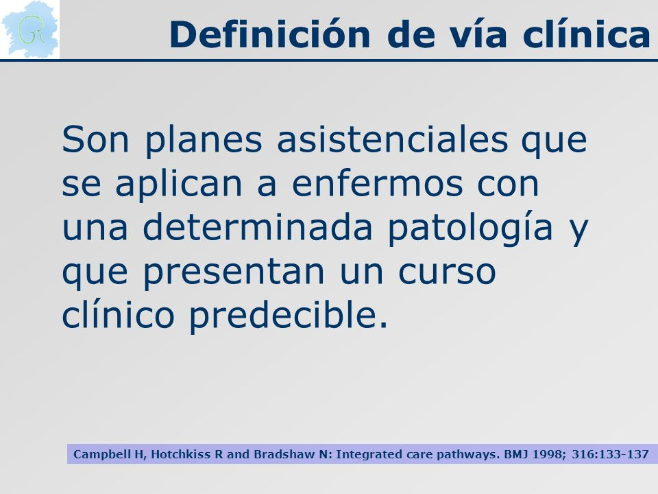 Definición de vía clínica