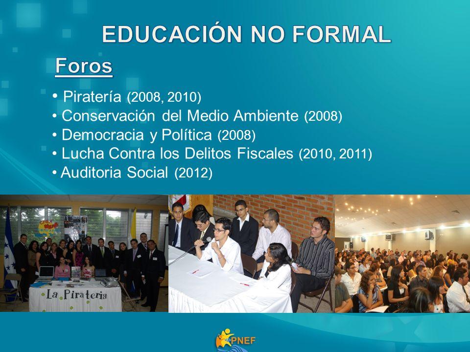 EDUCACIÓN NO FORMAL Foros Piratería (2008, 2010)