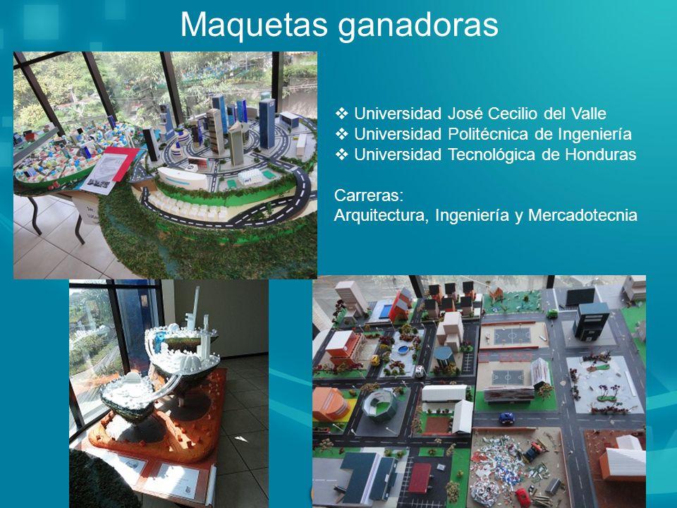 Maquetas ganadoras Universidad José Cecilio del Valle