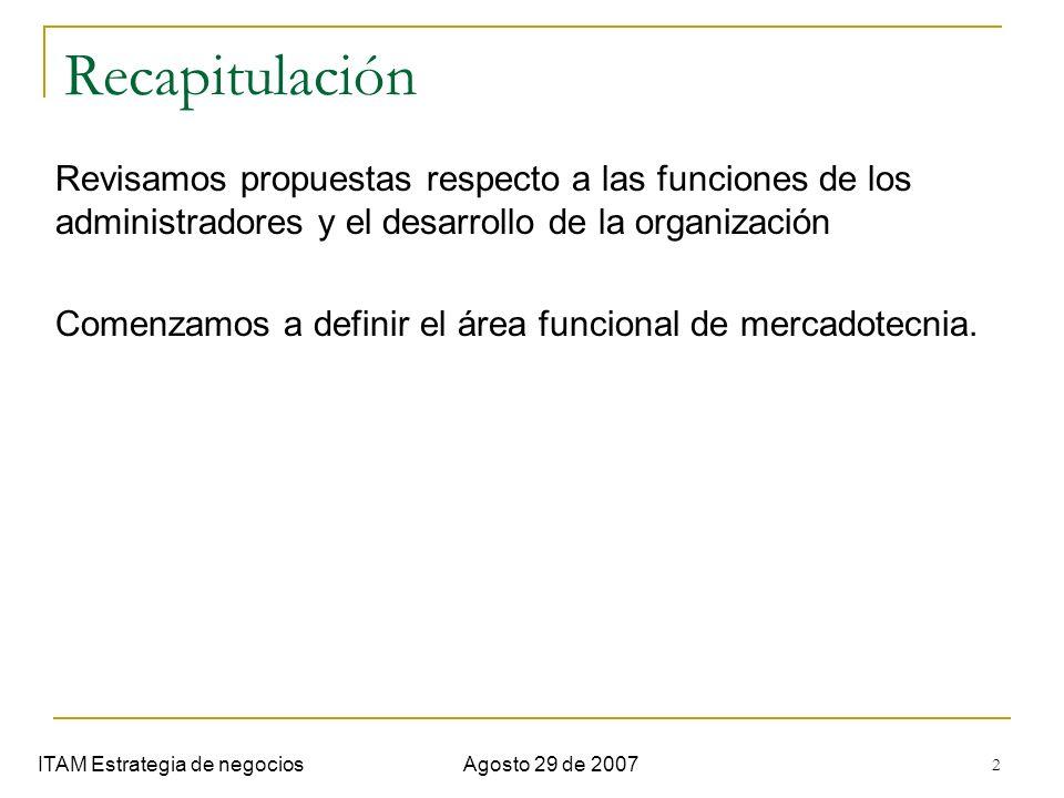 Semana 1. Introduccion Recapitulación. Revisamos propuestas respecto a las funciones de los administradores y el desarrollo de la organización.