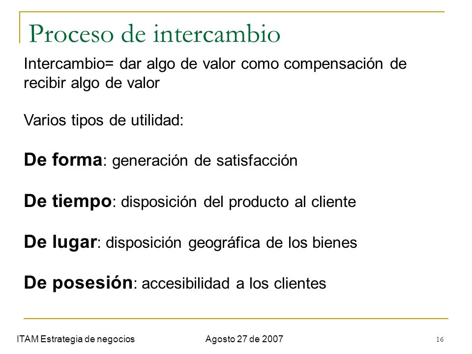 Proceso de intercambio