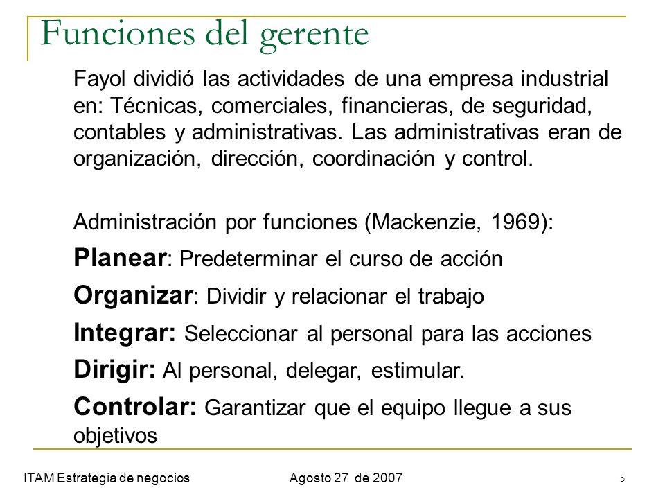 Semana 1. Introduccion Funciones del gerente.
