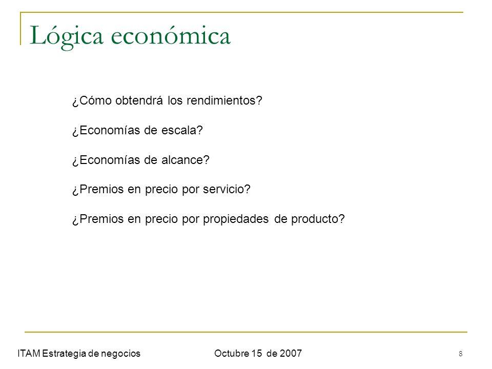 Lógica económica ¿Cómo obtendrá los rendimientos