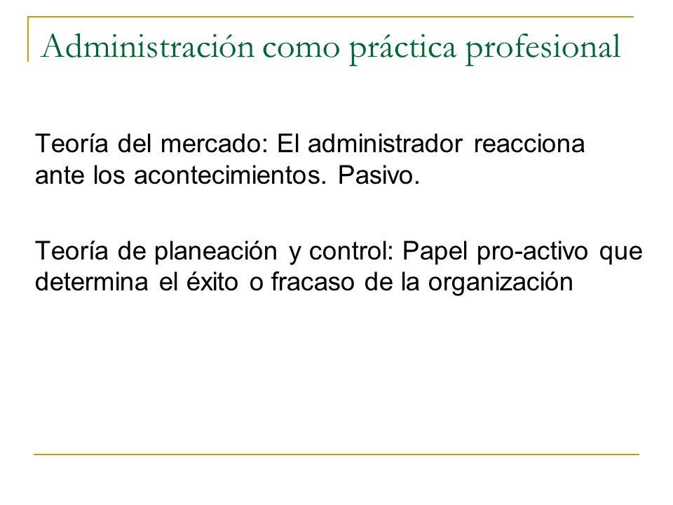 Administración como práctica profesional
