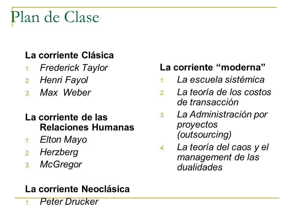 Plan de Clase La corriente Clásica Frederick Taylor