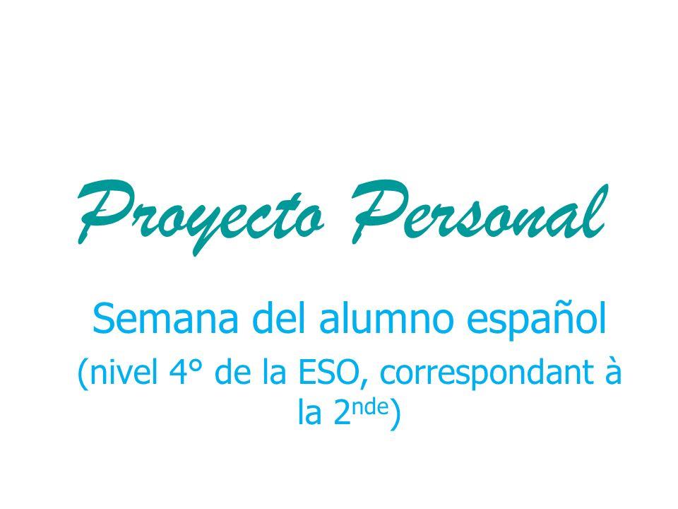 Proyecto Personal Semana del alumno español