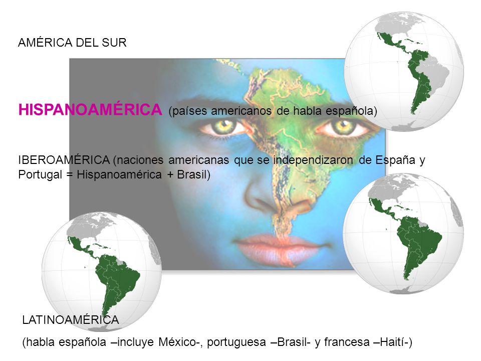 HISPANOAMÉRICA (países americanos de habla española)