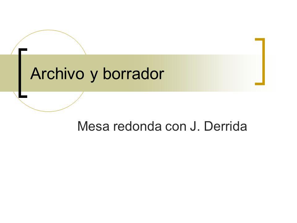 Mesa redonda con J. Derrida