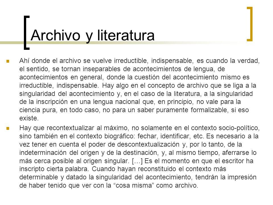 Archivo y literatura